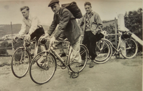 Jim and his club-mates on their Hobbs bikes