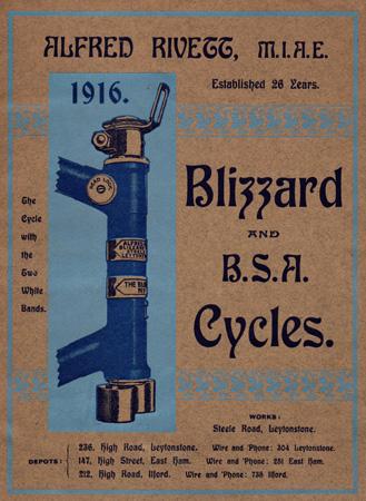 cover of Blizzard 20 page quarto catalogue 1916