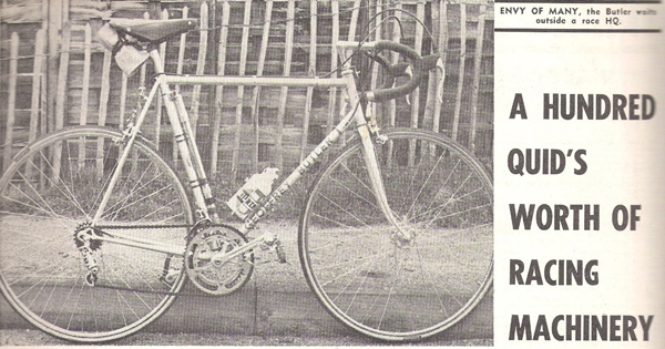Review of Geoffrey Butler SB in Cycling of 8June 1968