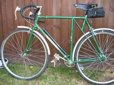 1939 Baines Flying Gate VS 37 with Sturmey Archer K type rear hub and early 50's trigger; Williams chainset; GB Hiduminium brakes with early pattern GB levers;  Pellisier bars; 26
