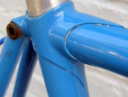 Bill Gray's lugwork on this 1969 George W Stratton time-trial frame