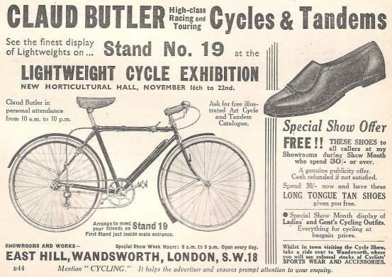 Claud Butler advert 1933