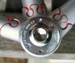 A Claud Butler branded bottom bracket shell in an 'Anglo-Continental' frame