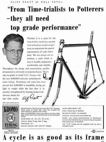 One of a series of Accles and Pollock adverts, in this case in co-operation with Cliff Pratt