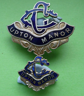 Upton Manor badge from Mick Butler's collection