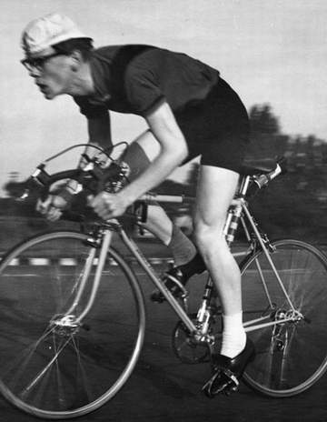Paul Gittins (left - photo Geoff Hughes) on his Fothergill - this shot is probably April '63 and taken on the old D1 Chester by-pass course.