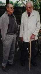Harry Carrington (right) and Ron Cooper together again at the V-CC Family Day at Herne Hill Cycle Track in 2000 where Mark Steven's arranged an outstanding display of Gillotts