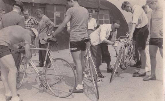 Albert Hawkes scrutineer at Olympic trials - 1948