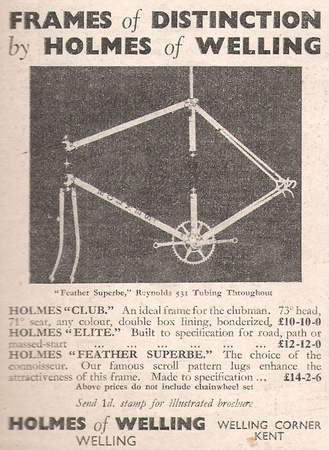 Early advertisement from a 1949 and early1950s copy of 'Cycling' (shown here left) reveal three distinct models on offer.