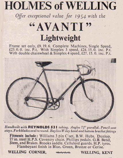 Avanti advertised in late 1953