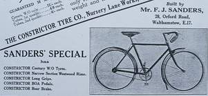 Sanders/Constrictor advert from Cycling June 1926