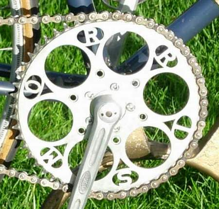 A very special chainring worked by HR Morris - 'MORRIS' cut into it