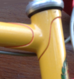 70s lugged frame with simple classic lugs of the era
