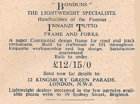 Bondun's advert 11.8.1949