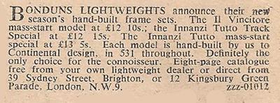 Bondun's advert 27.4.1950
