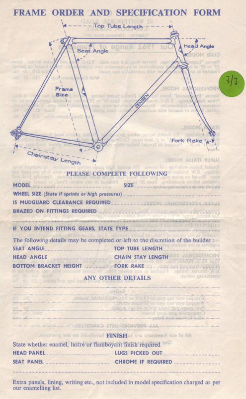 Frame order form