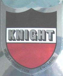 Final head/seat and down tube version of the Knight transfers