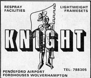 Knight advert from Cycling 28 May 1977