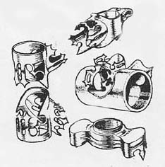 A rather crude drawing of the Apollo lugs published in 'Cycling', 1953.