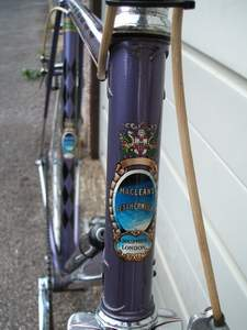 Head tube of 1956 Macleans Super Eclipse showing older style Nervex Professional lugs