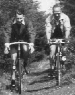Arthur and Frank riding 'Rough Stuff'