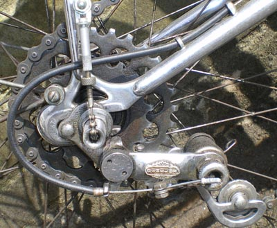 Hybrid gearing combining Sturmey-Archer hub gear with Benelux derailleur