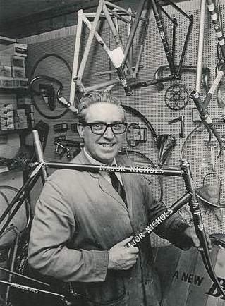 Major Nichols in his West Bromwich shop in 1969
