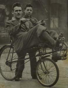 Walter Ormsby on one of his recumbent cycles