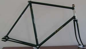 Theo Parsons frame with track ends including mudguard eyes - road/path frame