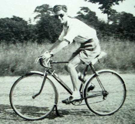 Harold riding a Pemberton Arrow
