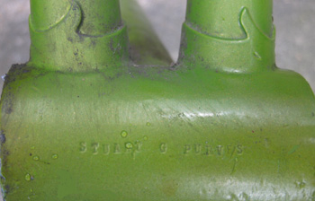 'Stuart G Purves' stamped on bottom bracket