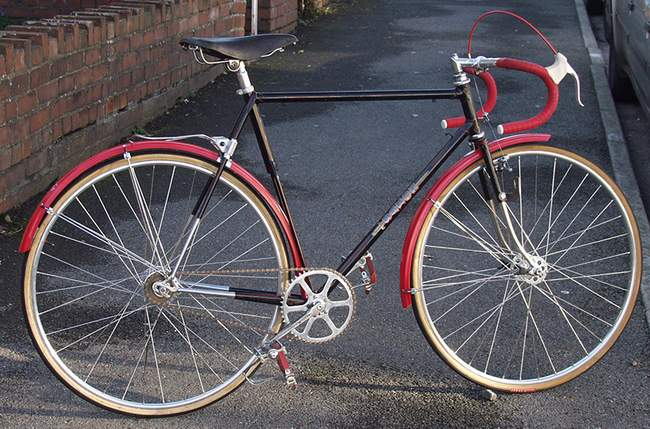 This is the Claud Butler built Saxon twin-tube which dates from 1952