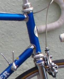 Modified Cinelli headlugs on this 1982 frame