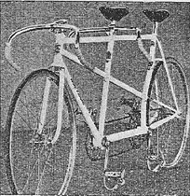 Hobbs Blue Riband track Marathon with curved rear seat tube
