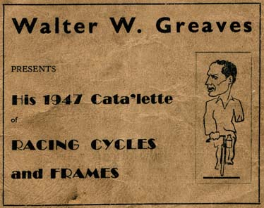 Cover of Walter Greaves Cata'lette - 1947