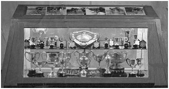 Trophies won by the Wilson Cycles road racing team in 1958