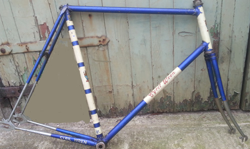 1151 late 1961/early 1962 Blue track frame owned from new by John Wren Cyril Wren only Transfers