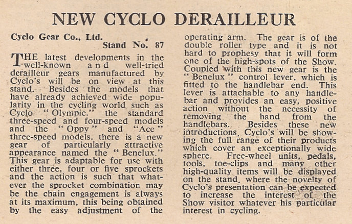 Images above - Cycling 20 Oct 1949