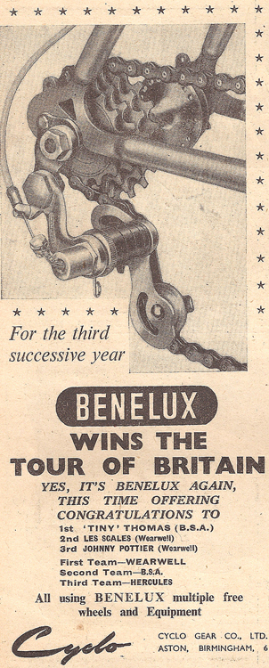 Advert Cycling 24 September 1953