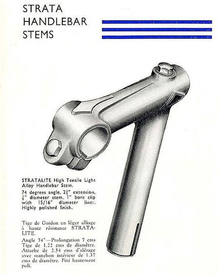 Alloy stem (from catalogue ca.1950 – courtesy V-CC library)