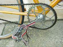 Pre-war BSA double-fluted cranks with BSA pedals and Williams 5-pin chainwheel