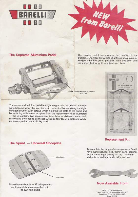 A detailed information sheet which was supplied with the pedals - courtesy Dave Peck