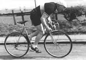 Harry Aspden, the original owner of this Bianchi (seen here on a Hill Special) who was a respected journalist as well as a racing cyclist.