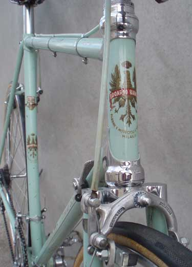 View showing transfers and front brake stirrup