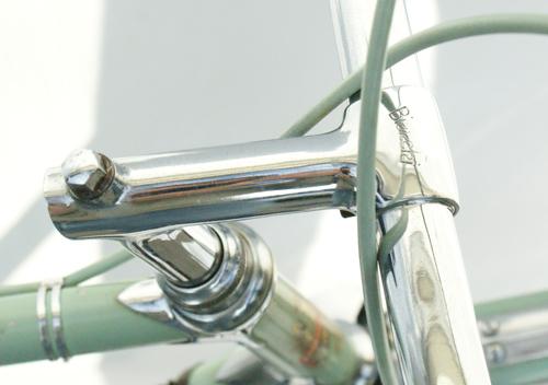 "Ambrosio ""Bianchi"" engraved steel stem"