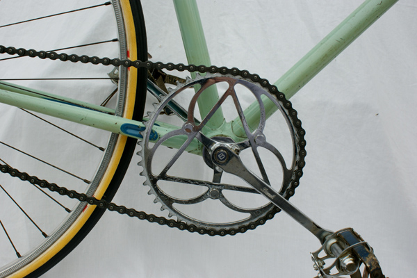 Bianchi steel single 49T chainset made by F B