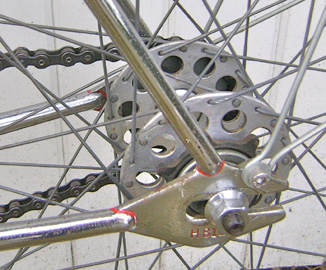 Chater-Lea rear track ends with frame number stamped on