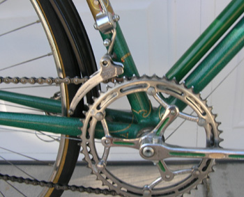 Stronglight/Simplex chainset and Simplex front changer