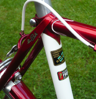 Super Torino characteristics: Prugnat seat lug' C/P brake bridge and decals