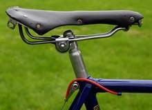 Lycett 'Swallow' saddle and seat cluster with bi-laminated lugs and wrap-over seat stays